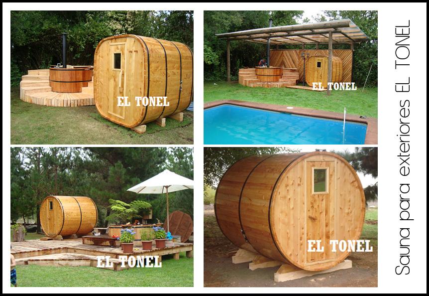 Tina De Baño Japonesa:fabricamos a pedido dos modelos de saunas para exteriores e interiores